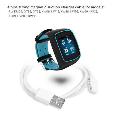 Cable USB 4 Pin Magnetic Charging Cord For Smart Watch GT88 G3 KW18 Y3 KW88 GT68