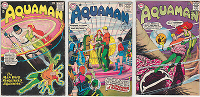 Aquaman Issues #17 #18 #19 GOOD/VERY GOOD 3.0 (GD/VG) Cream - White pages