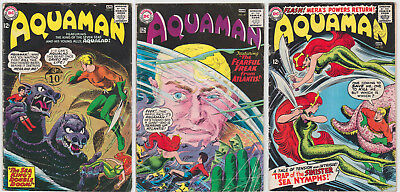 Aquaman Issues #20 #21 #22 GOOD/VERY GOOD 3.0 (GD/VG) Cream - White pages