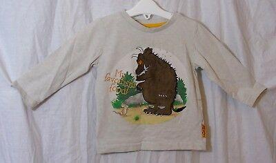 Baby Boys TU Grey Gruffalo My Favourite Food Long Sleeve Top Age 12-18 Months