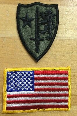 US Army Allied Command Europe USA Flag Flagge Reforger Uniform patch Aufnäher