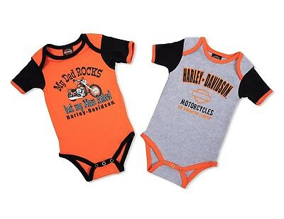 Harley Davidson Newborn Baby Infant & Kid 2 Pieces of Leotards.