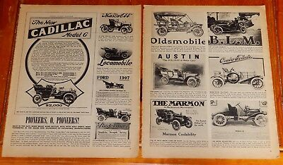 Early Antique Automobile Ads From 1948 Magazine 14 X 22 Inches Cadillac Marmon