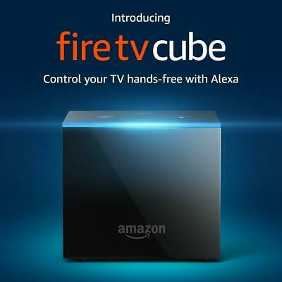 Amazon Fire TV Cube 2019 2nd Gen Hands-Free w/ Alexa & 4K Ultra HD Streaming Med