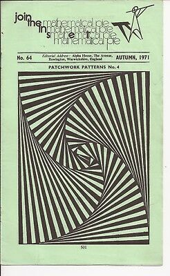 Mathematical Pie Journal No.64, Autumn 1971 - free pp(UK) - very good condition
