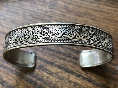 Vintage Chinese Silver Cuff Bangle,-25g
