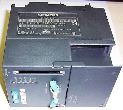 SIEMENS  6ES7 315-1AF02-0AB0 CPU 315 (E - Stand 2) (OUR REF: 2139/2140)