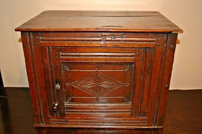 Antique C17th Oak Wall Cupboard