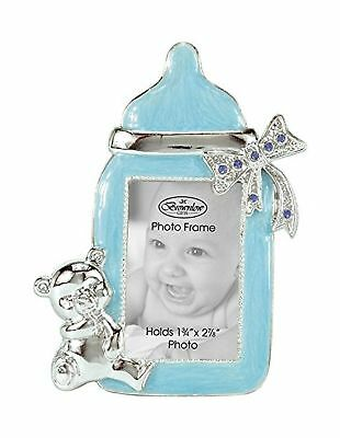 Brownlow Gifts Baby Boy Bottle Frame, Blue