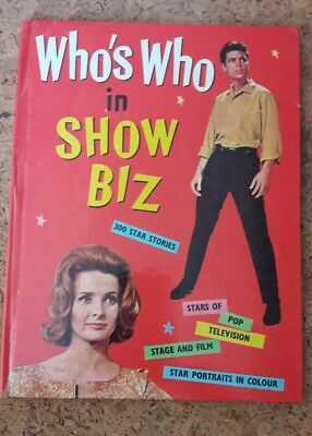Who's Who In Show Biz Vintage 1960s - near perfect condition!