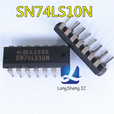 10PCS SN74LS10N Encapsulation:DIP-14,TRIPLE 3-INPUT POSITIVE-NAND GATES new