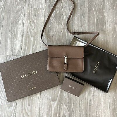 1662ec9ed8f42 GUCCI JACKIE SOFT Leather Convertible Wallet Crossbody Clutch