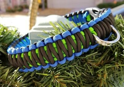 Handmade Paracord Dog Collars - All Sizes Available
