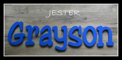 """Painted Wooden Wall Letters 6"""" size Home Decor Kids Room Baby Nursery Jester"""