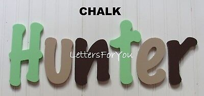 "Painted Wooden Wall Letters 6"" size Home Decor Kids Room Baby Nursery Chalk"