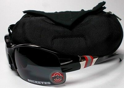 cf7ede419a0 Ohio State Buckeyes XL 3D LOGO on Black Blade Sunglasses. 3 PC