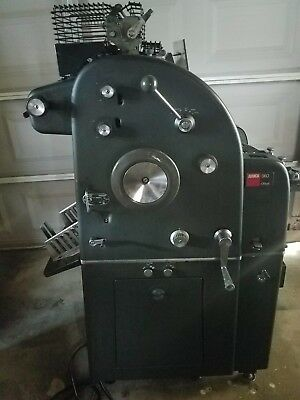 ABDICK Printing Press 360 With Metal Shields, 11 x 17""