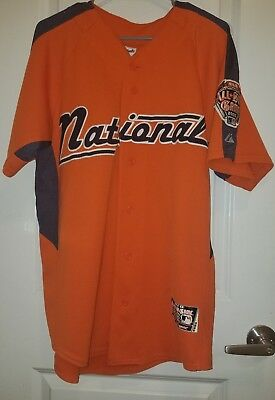 56888be0d Authentic Majestic 2005 All Star Game Jersey Size Medium Tigers Baseball MLB