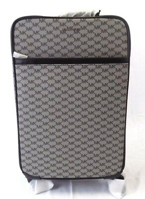 7c9908600 New Michael Kors Signature Black Travel Trolley Rolling Carry On Suitcase
