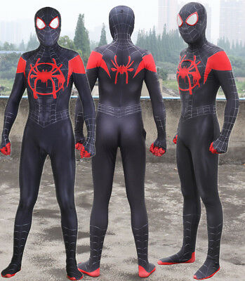 2018 Spider-Man Into the Spider-Verse Miles Morales Cosplay Costume Spiderman