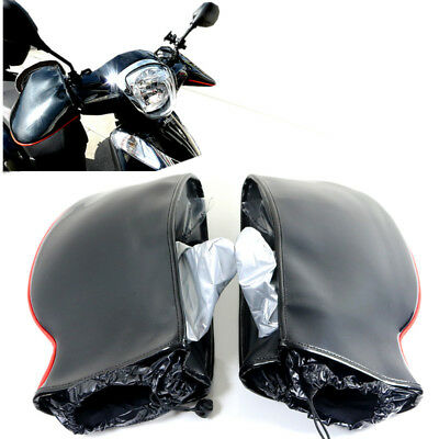 Black WProof Motorcycle Handle Bar Mitts Hand Warmer Motorbike Bar Muffs Gloves
