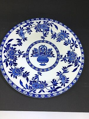 Antique Blue And White Delph Dinner Plate For James M. Shaw Co. NY Made In Eng.