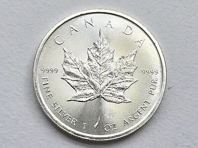 2014 Silver Canadian Maple Leaf Coin - $5 - .9999 Silver Purity