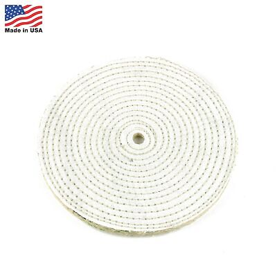 """8"""" Spiral Sewn Sisal Buffing Wheel Aggressive Cut Scratch Remover - 1/2"""" Arbor"""