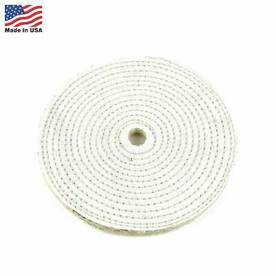 """8"""" Spiral Sewn Sisal Buffing Wheel Aggressive Cut Scratch Remover - 3/4"""" Arbor"""