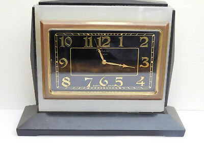 Gubelin Vintage Mantle Eight Day Mantle Clock. In Heavy Onyx Case.