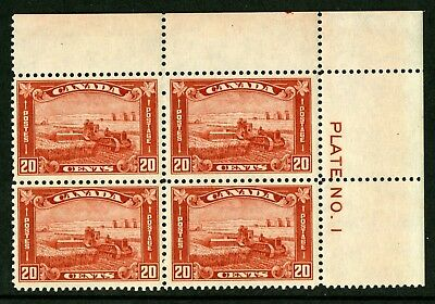 CANADA Scott 175 - SNH - UR  Plate 1 - 20¢ Harvesting Wheat (.036)