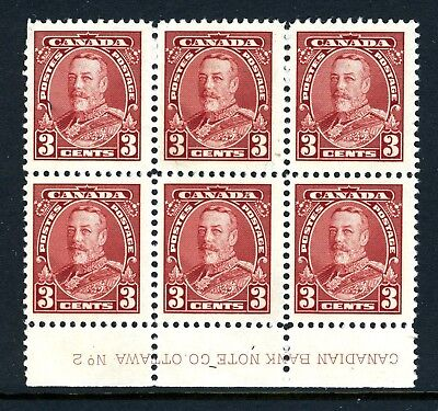 CANADA Scott 219 - NG - Lower Plate 2 - 3¢ Carmine King George V Pictorial (016)