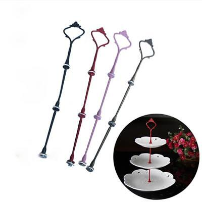 2/3Tier Cake Cupcake Plate Stand Handle Hardware Fitting Holders