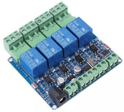 4 Channel Relay Module STM8S10F3 System RS485 Communication DC12V Module Board