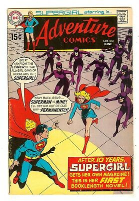 Adventure Comics 381   1st Supergirl solo series   Neal Adams cover
