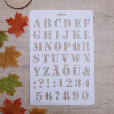 Stencil Alphabet Letters Stencils Numbers Lettering Numerals