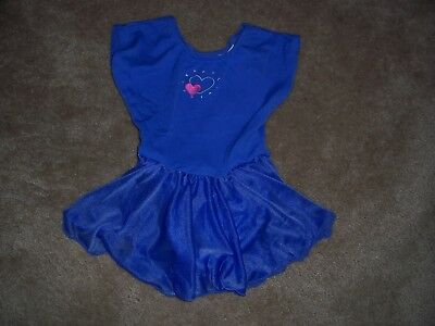 Girls JACQUES MORET Purple Leotard with Skirt Size XS 4-5