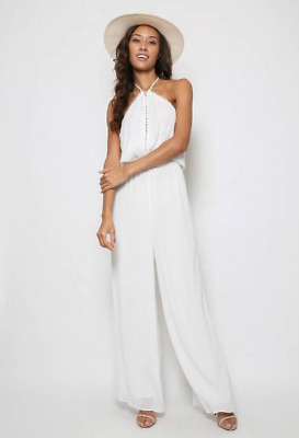 f974acd116 THE JETSET DIARIES Golden Island Jumpsuit In Ivory size M  242 ...