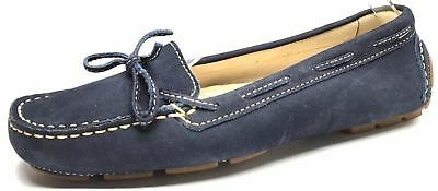 84289ef99c0 Women s Shoes Caslon Slip On Loafers Lace W95713 Navy Blue Leather Suede  Size 6M