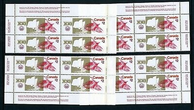 CANADA Scott 688 - NH - Matched Set Plate 1 - $2 Olympic Sites (.001)