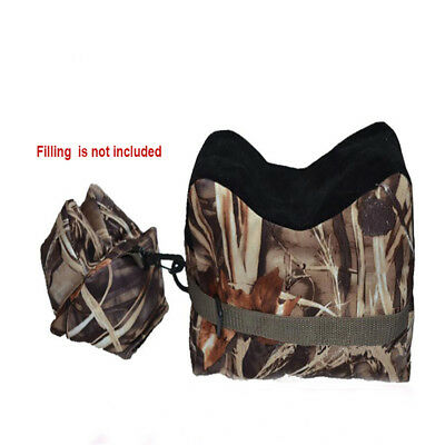 Shooting Range Sand Bag Set Hunting Rifle Gun Bench Rest Stand Camouflage