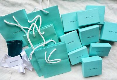 8858e5f1c5 Lot Of 14 Tiffany & Co Gift Boxes Bags Ribbon Jewelry Box Necklace Box  Earring