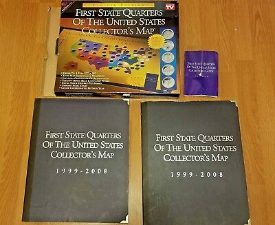 First State Quarters of the US Collector's Map 1999-2008 (2 Sets- COMPLETE)