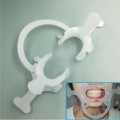 1pc Orthodontic Dental Plastic Mouth Opener Cheek Retractor with Handle C–shap