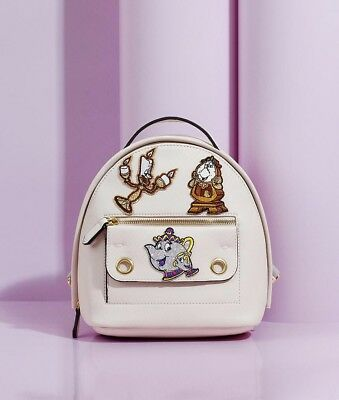 0083f7268a7 Danielle Nicole Disney By Mila Mini Beauty And The Beast Backpack With  Patches