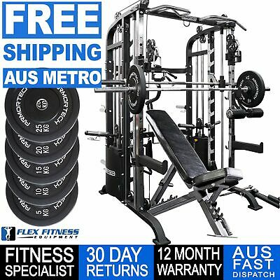 Power Rack Smith Machine Power Cage Cable Cross 100kg Weights **Free Shipping**