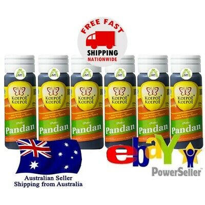 6x Butterfly Pandan Essence 30ml Flavouring Coloring Baking Beverages