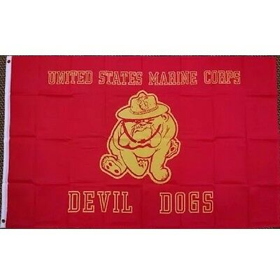 Size 5x3 Feet UNITED STATES MILITARY FLAGS US MARINE DEVIL DOGS FLAG