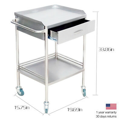 Clinic/Beauty Medical Dental Cart Trolley Two Layers With One Drawer Durable KPA