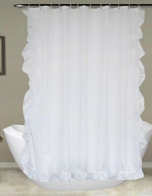 White Lace Shower Curtain Bath Curtain Bathroom Waterproof Moldproof  Polyester